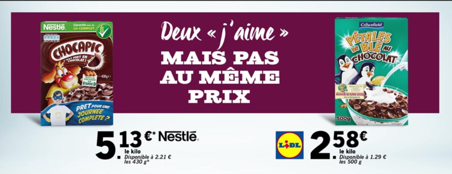 Lidl publicité comparative